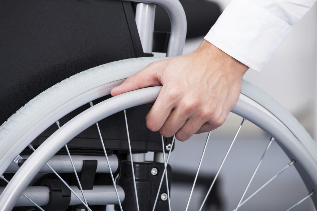 Businessman On Wheelchair