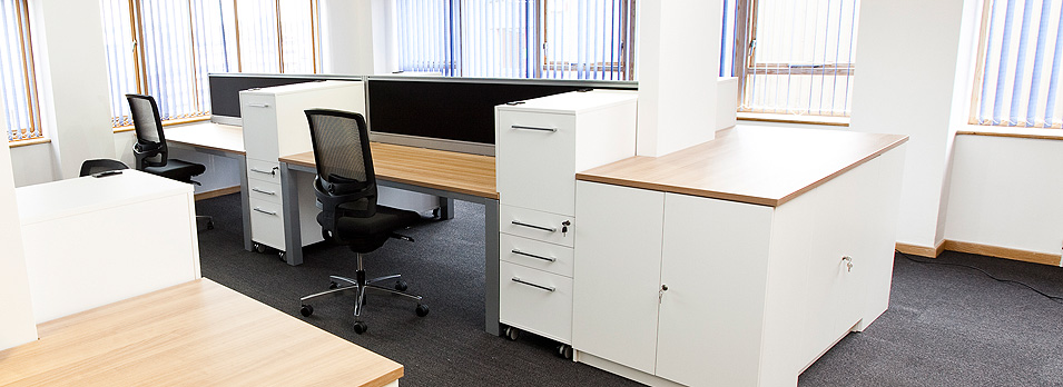 open plan view of a office