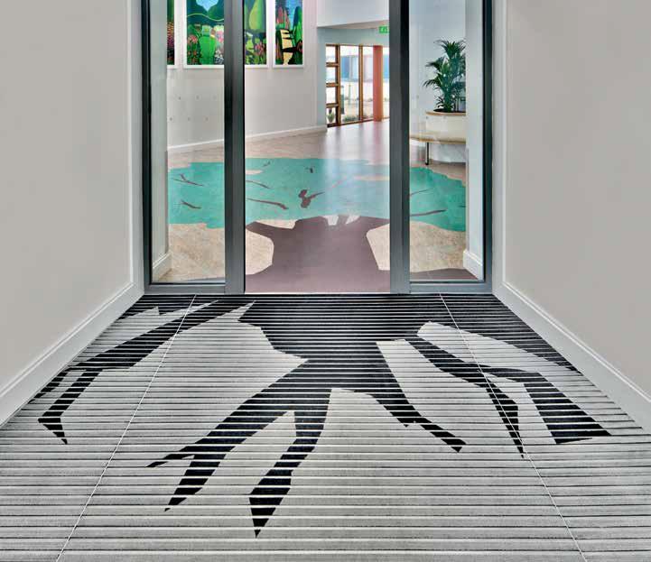 Decorative entrance barrier mat