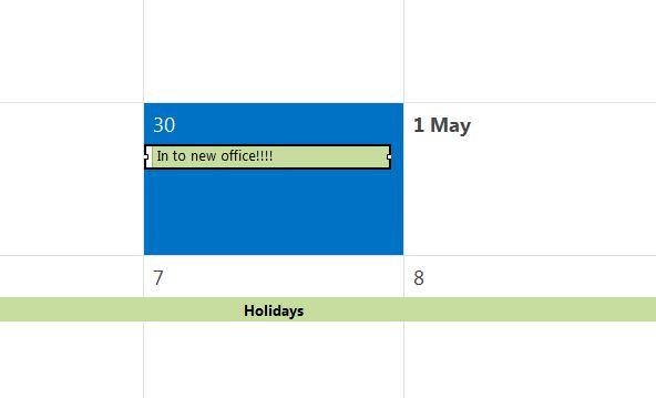 Calendar cutting