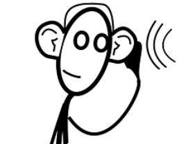 Cartoon of listener