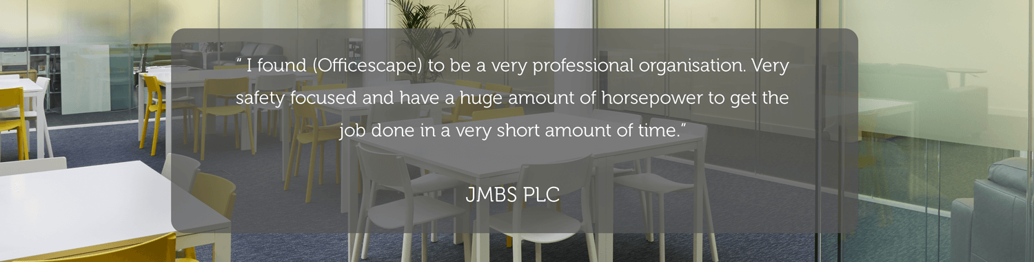 testimonial for officescape workplace consultants, office design and office fit out