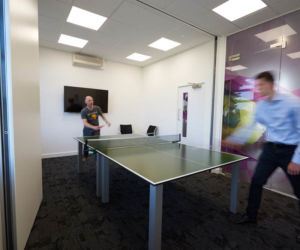 Table tennis table for breakout area